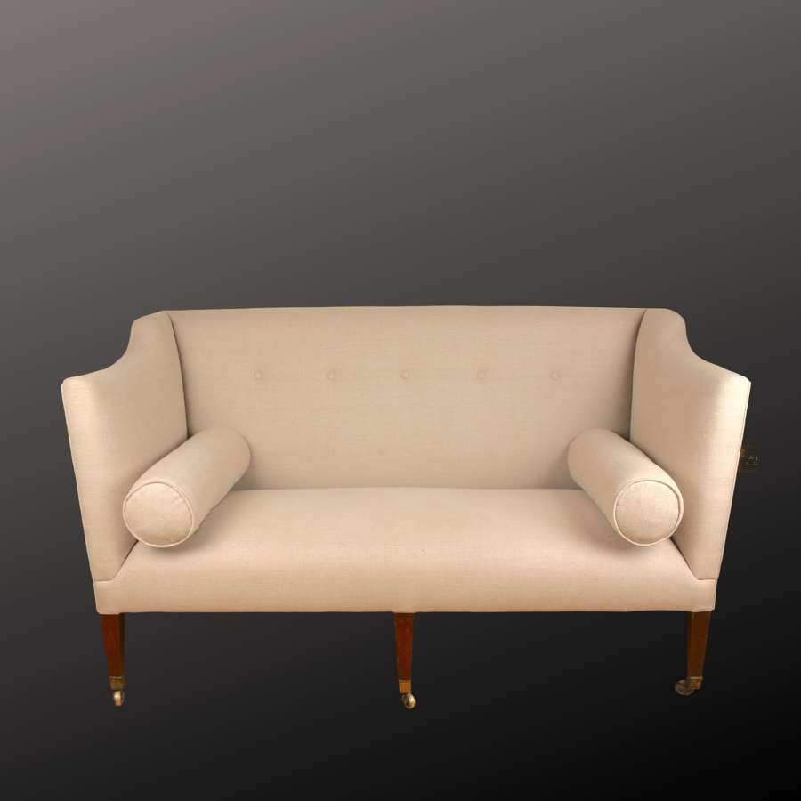 Georgian sofa, c1800. Nice proportions.
