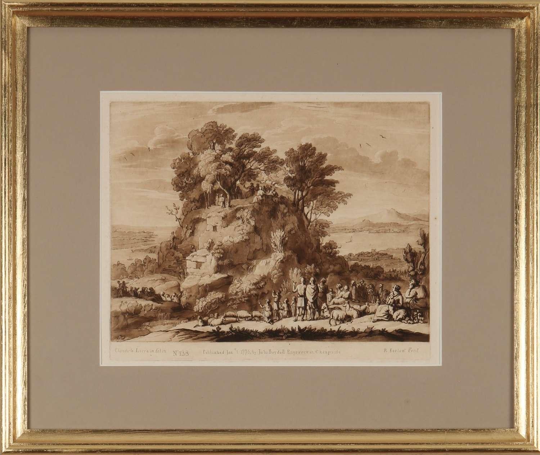 Richard Earlom: mezzotint engravings after Claude Lorrain, c1777