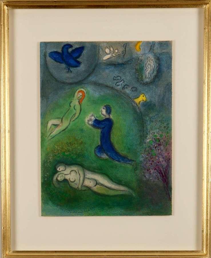 Marc Chagall: 'Daphnis and Chloé'. Original colour lithograph, 1961.