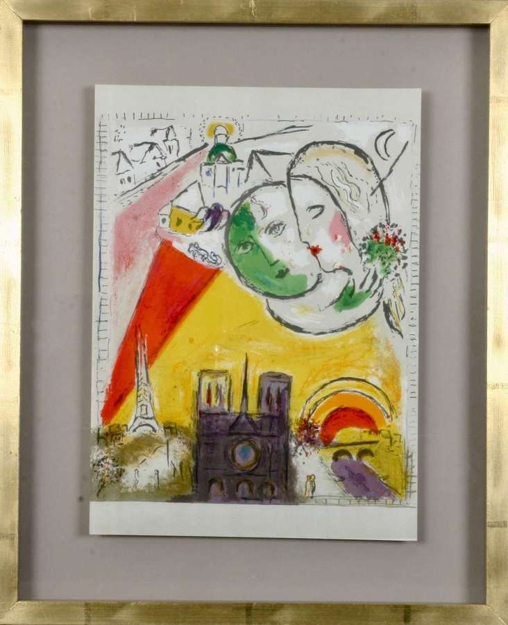 Marc Chagall: 'Paris Fantastique'. Original colour lithographs, 1954